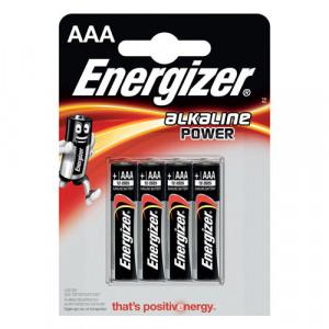 4 batterie alcaline aaa energizer 1.5v